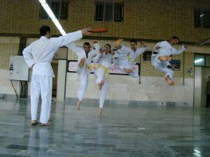 کاراته بازی کردن فرید مسعودی
