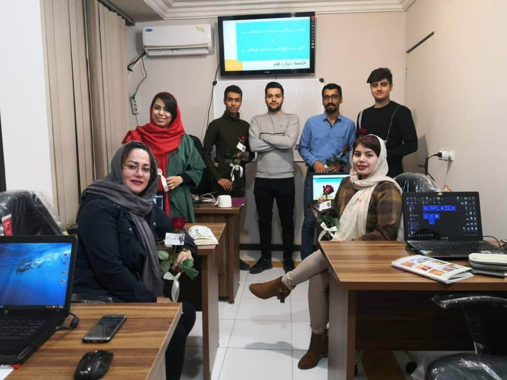 عکس یادگاری جلسه اخر کلاس طراحی کسب و کار اینترنتی فرید مسعودی